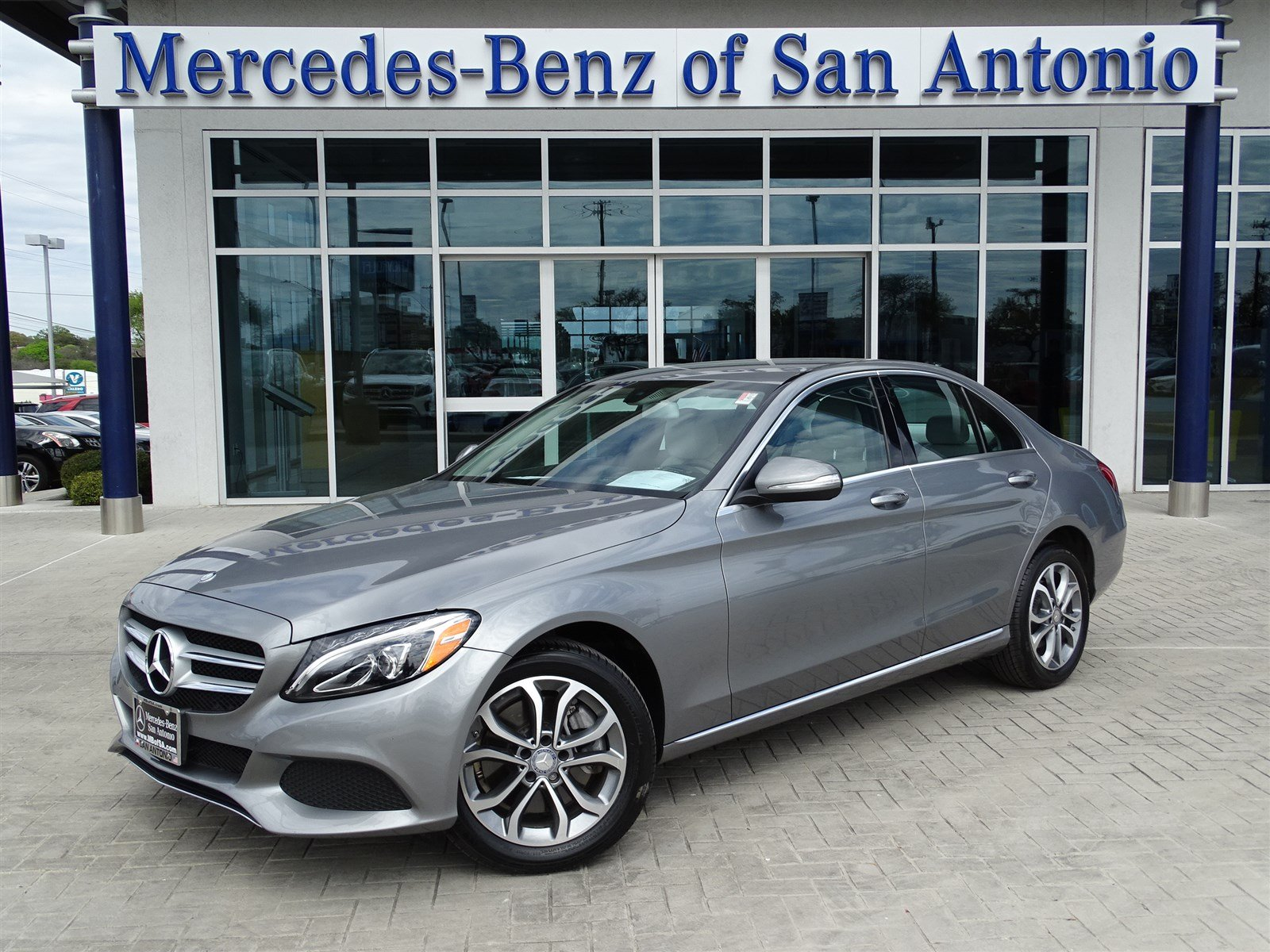 Pre owned 2015 mercedes benz c class c 300 4dr car in san for Mercedes benz pre owned vehicles